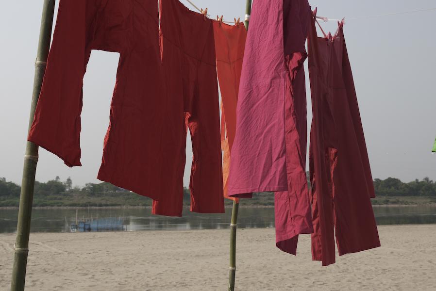 half-open laundry