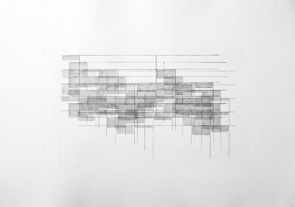 Sanatoriums_b, eau forte et aquatinte sur zinc, agencement de 3 matrices avec ecart variable, 2017, 39 x 54cm